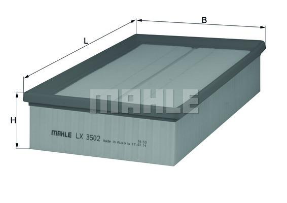 Фильтр воздушный Mahle/Knecht LX3502LX3502