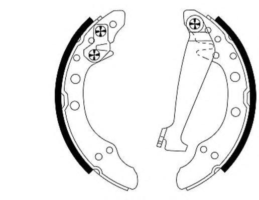 Колодки тормозные барабанные, комплект BEHR-HELLA 8DB3550013118DB355001311