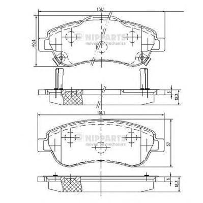 Колодки тормозные передние Nipparts N3604066N3604066