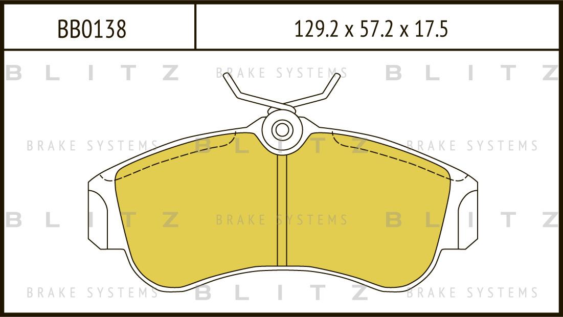 Колодки тормозные дисковые BLITZ автотовары BB0138BB0138