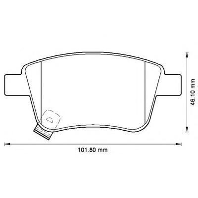 Колодки тормозные дисковые 4 шт, задние Jurid 572516J572516J
