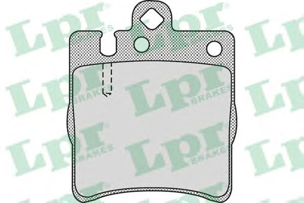 Колодки тормозные задние LPR / AP 05P95705P957