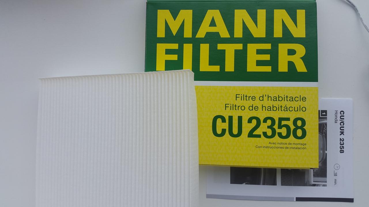 Фильтр салона Mann-Filter CU2358 detachable double love heart earrings