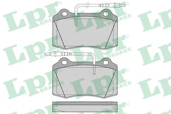 Колодки тормозные дисковые LPR / AP 05P114105P1141