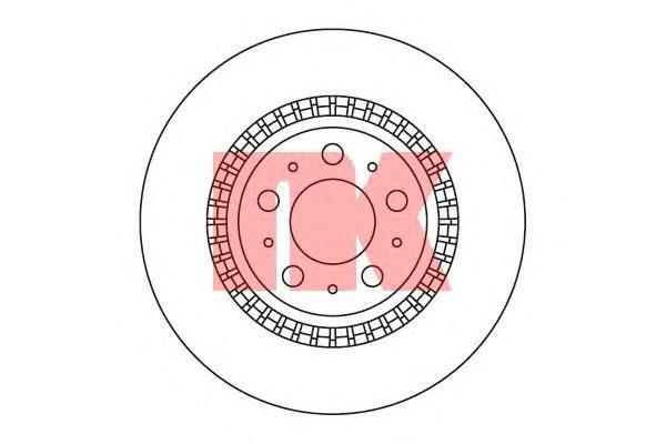 Диск тормозной NK 204852 комплект 2 шт204852