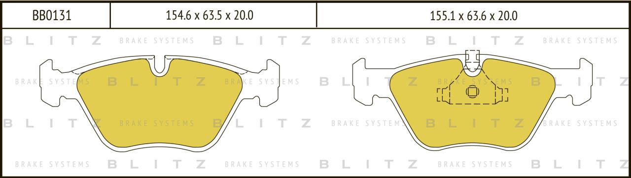 Колодки тормозные дисковые BLITZ автотовары BB0131BB0131