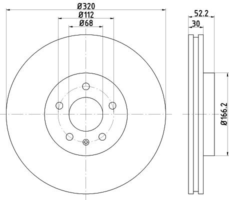 Диск тормозной передний Textar 9216000592160005