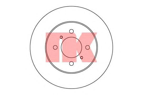 Диск тормозной NK 203039 комплект 2 шт203039