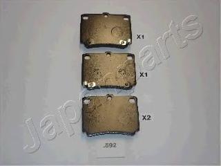Колодки тормозные дисковые Japanparts PP592AFPP592AF