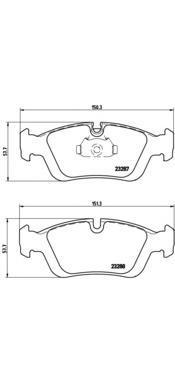 Колодки тормозные дисковые передние Brembo P06024P06024