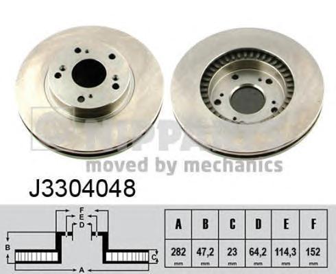 Диск тормозной передний Nipparts J3304048 комплект 2 штJ3304048