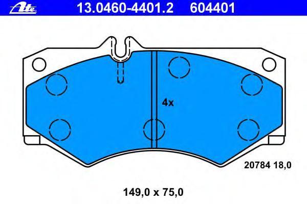 Колодки тормозные дисковые Ate 1304604401213046044012