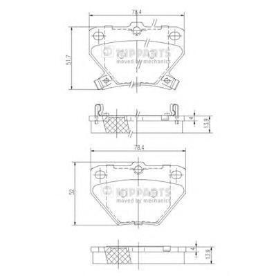Колодки тормозные задние Nipparts J3612018J3612018