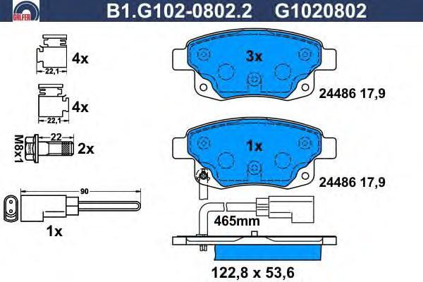 Колодки тормозные дисковые Galfer B1G10208022B1G10208022