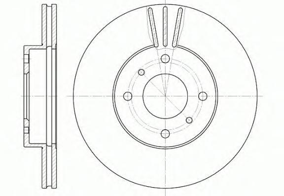 Диск тормозной Remsa, 2 шт. 661010661010