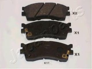 Колодки тормозные дисковые Japanparts PAK17AFPAK17AF