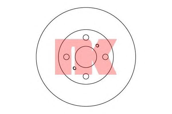 Диск тормозной NK 204543 комплект 2 шт204543