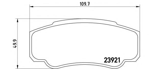 Колодки тормозные задние Brembo P23093P23093