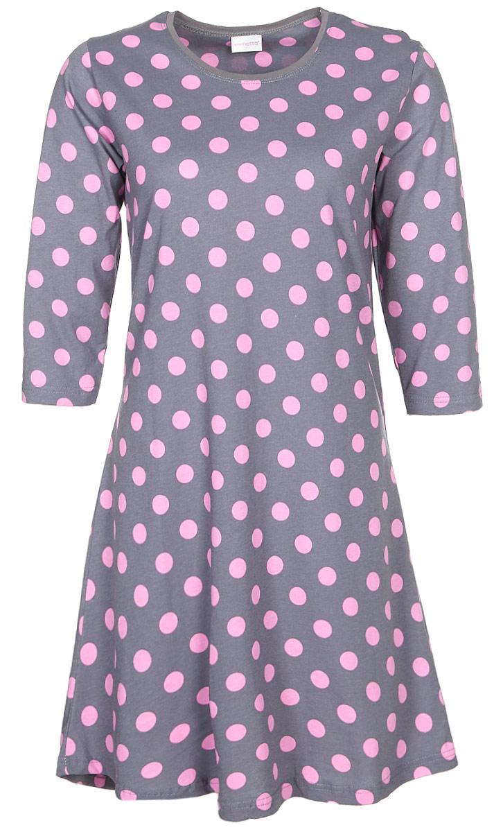 Туника женская Vienettas Secret Крупный горох, цвет: розовый. 705112 2241. Размер L (48)705112 2241