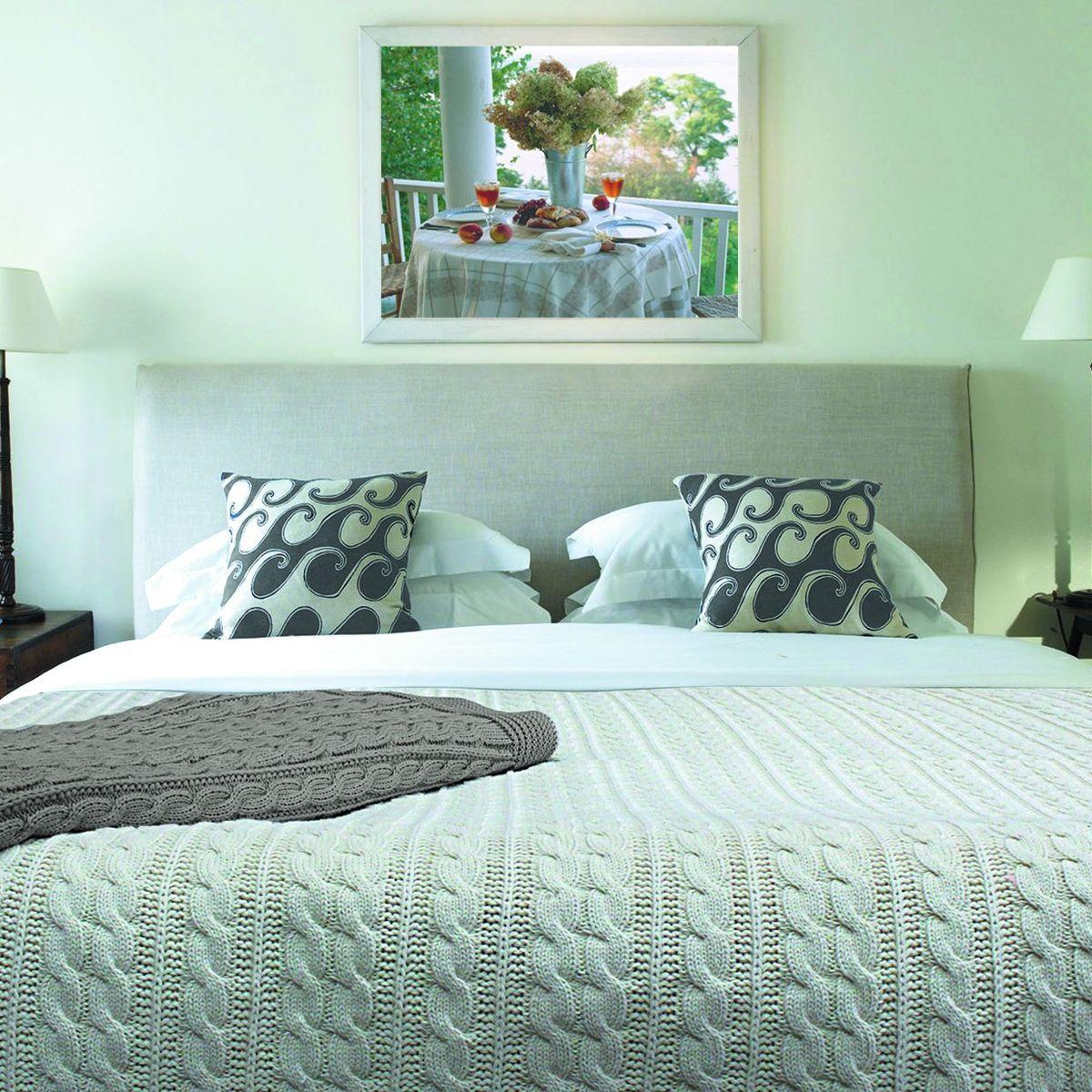 Плед Buenas Noches, цвет: серый, 150 х 200 см. 5616556165Хлопковые пледы Buenas Noches - мяккие, яркие, современные. Украсят практически любой дом. Могут послужить отличным подарком.