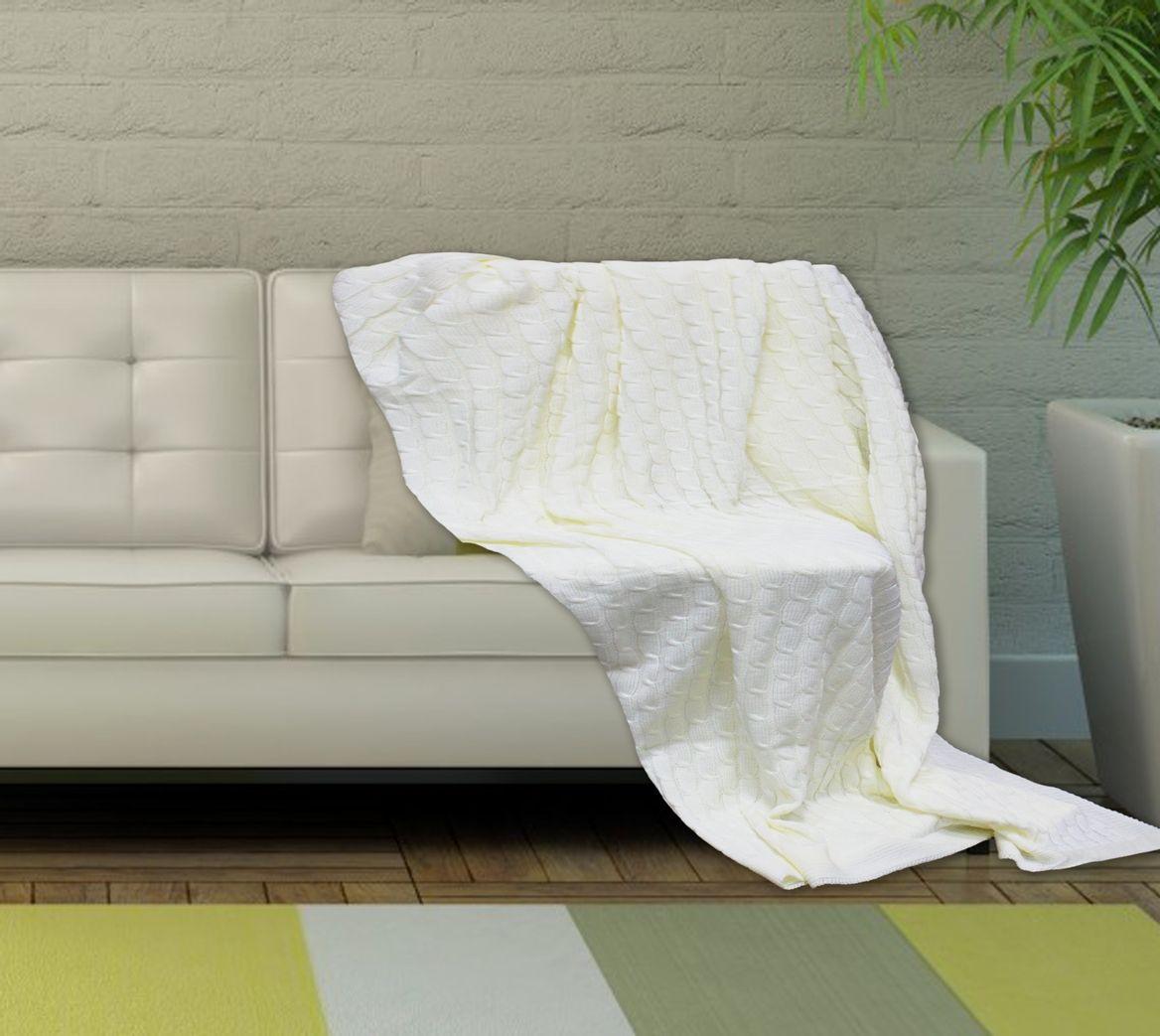 Плед Buenas Noches, цвет: молочный, 130 х 160 см. 7835978359Вязаные пледы Amore Mia - отличный подарок себе и близким. Легкие, можно взять в дорогу, либо укрыть малыша. Оригинальная вязка, классические цвета.