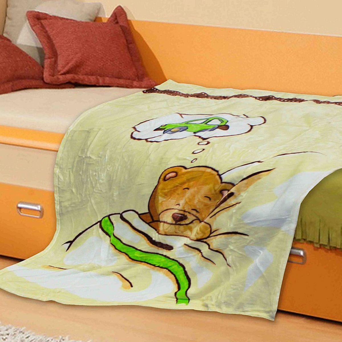 TexRepublic Плед детский Absolute Мишка в кроватке 110 х 140 см 7849578495Микрофайбер - современный, комфортный материал, обладающий обширным списком достоинств. Он практически не мнется, не требует особого ухода, не линяет, не выцветает. Теплый и мягкий. Идеален для детей.