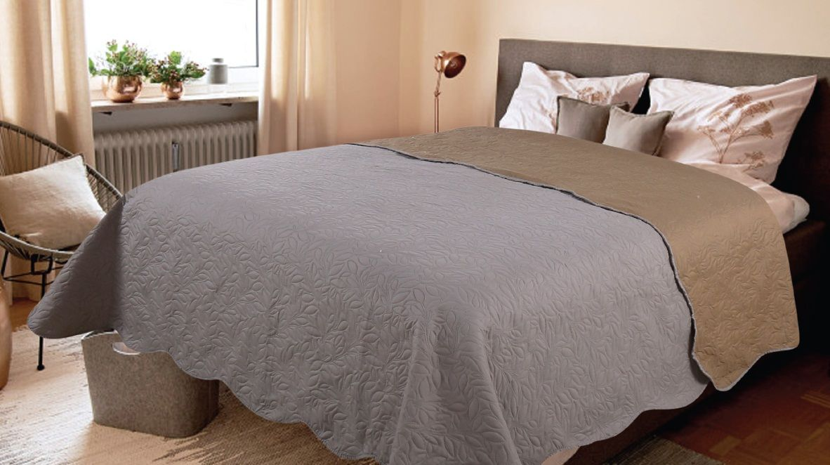 Покрывало Amore Mio Alba, цвет: серый, 160 х 200 см81068Роскошное покрывало Amore Mio Alba идеально для декора интерьера в различныхстилевых решениях. Однотонное изделие изготовлено из высококачественногополиэстера и оформлено рельефным рисунком.Покрывало Amore Mio Alba будет превосходно дополнять интерьер вашей спальниили станет прекрасным подарком любому человеку.Ручная стирка при 30°С. Не гладить,не отбеливать.