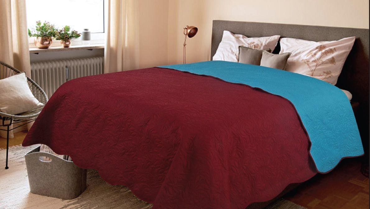 Покрывало Amore Mio Alba, цвет: бордовый, 160 х 220 см81069Роскошное покрывало Amore Mio Alba идеально для декора интерьера в различных стилевых решениях. Однотонное изделие изготовлено из высококачественного полиэстера и оформлено рельефным рисунком. Покрывало Amore Mio Alba будет превосходно дополнять интерьер вашей спальни или станет прекрасным подарком любому человеку.Ручная стирка при 30°С. Не гладить, не отбеливать.