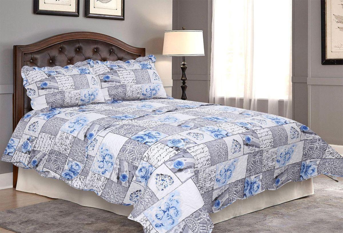 Комплект для спальни Amore Mio: покрывало 170 х 220 см, наволочка. 8563885638Покрывала Pachwork Amore Mio - стеганые покрывала с печатным рисунком. Стильные, легкие, неприхотливые в уходе.