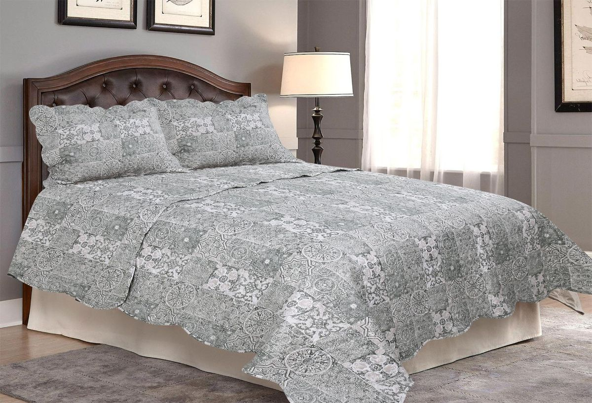 Комплект для спальни Amore Mio: покрывало 170 х 220 см, наволочка. 8564785647Покрывала Pachwork Amore Mio - стеганые покрывала с печатным рисунком. Стильные, легкие, неприхотливые в уходе.
