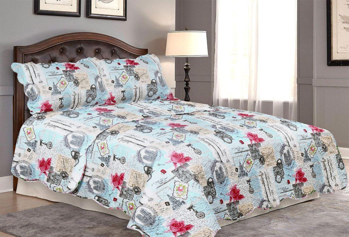 Комплект для спальни Amore Mio: покрывало 170 х 220 см, наволочка. 8564985649Покрывала Pachwork Amore Mio - стеганые покрывала с печатным рисунком. Стильные, легкие, неприхотливые в уходе.