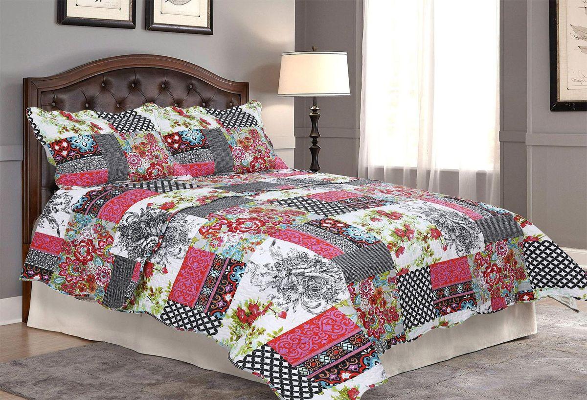 Комплект для спальни Amore Mio: покрывало 170 х 220 см, наволочка. 8080Покрывала Pachwork Amore Mio - стеганые покрывала с печатным рисунком. Стильные, легкие, неприхотливые в уходе.