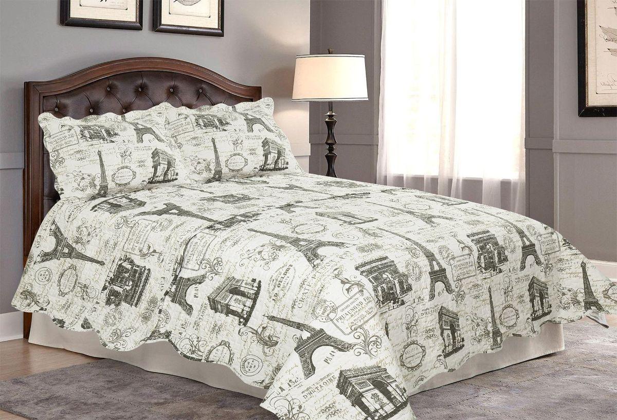 Комплект для спальни Amore Mio: покрывало 170 х 220 см, наволочка. 8181Покрывала Pachwork Amore Mio - стеганые покрывала с печатным рисунком. Стильные, легкие, неприхотливые в уходе.