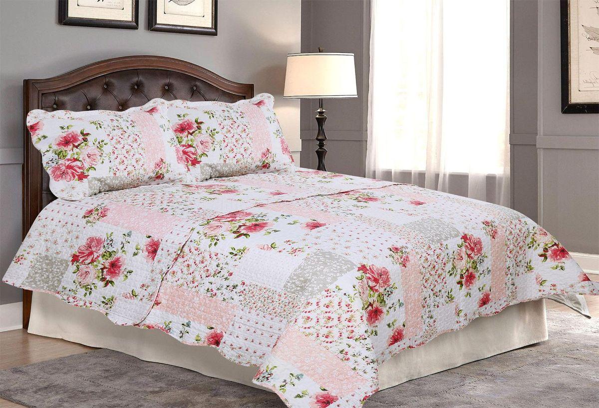 Комплект для спальни Amore Mio: покрывало 230 х 250 см, 2 наволочки. 8566285662Покрывала Pachwork Amore Mio - стеганые покрывала с печатным рисунком. Стильные, легкие, неприхотливые в уходе.