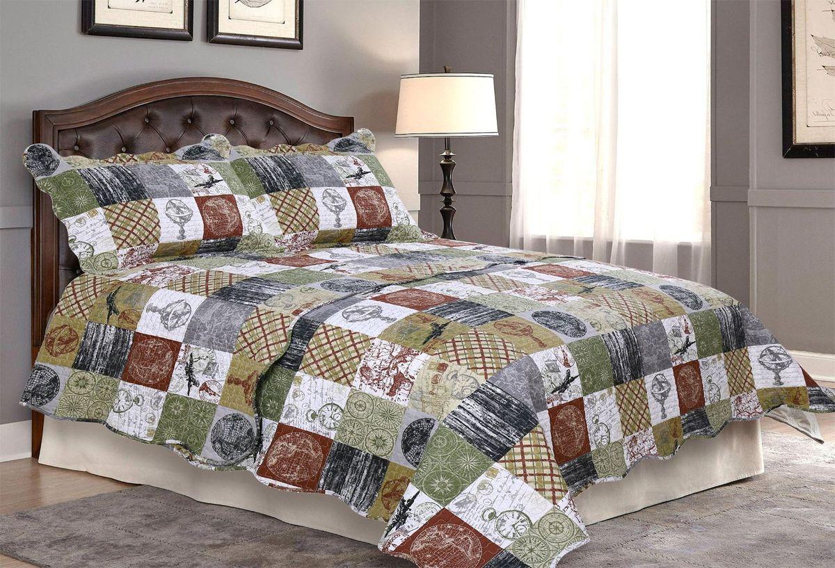 Комплект для спальни Amore Mio: покрывало 230 х 250 см, 2 наволочки. 8566585665Покрывала Pachwork Amore Mio - стеганые покрывала с печатным рисунком. Стильные, легкие, неприхотливые в уходе.