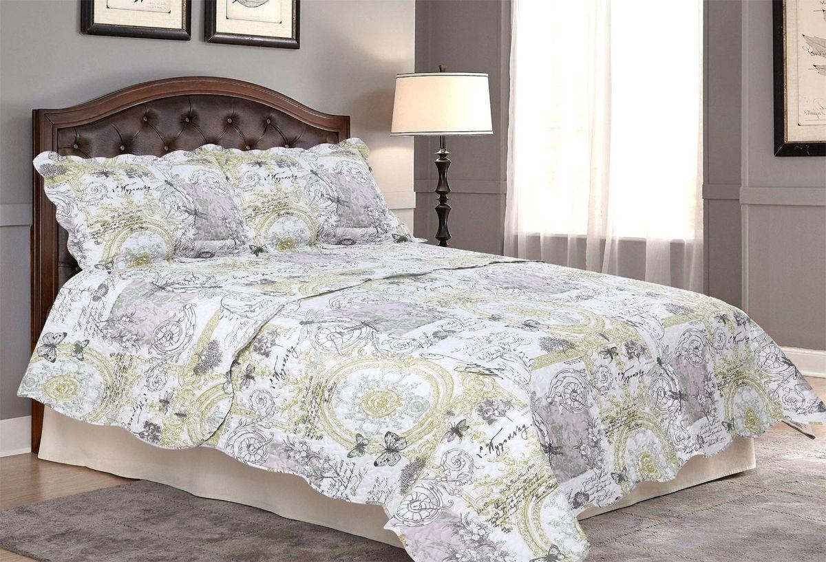 Комплект для спальни Amore Mio: покрывало 230 х 250 см, 2 наволочки. 8566685666Комплект для спальни Amore Mio состоит из покрывала и двух наволочек. Выполнен из 100% полиэстера и оформлен красочным рисунком. Очень нежный и приятный на ощупь, дышащий, поскольку очень хорошо пропускает воздух, не электризуется, сохраняет свой внешний вид в течение долгого времени, устойчив к загрязнениям. Внутренний наполнитель - синтепон. Покрывало оформлено фигурной стежкой, которая надежно удерживает наполнитель внутри и не позволяет ему скатываться. Комплект для спальни Amore Mio гармонично впишется в интерьер вашего дома и создаст атмосферу уюта и комфорта. Комплект очень практичен и неприхотлив в уходе. Можно стирать в машинке при температуре 40°С.