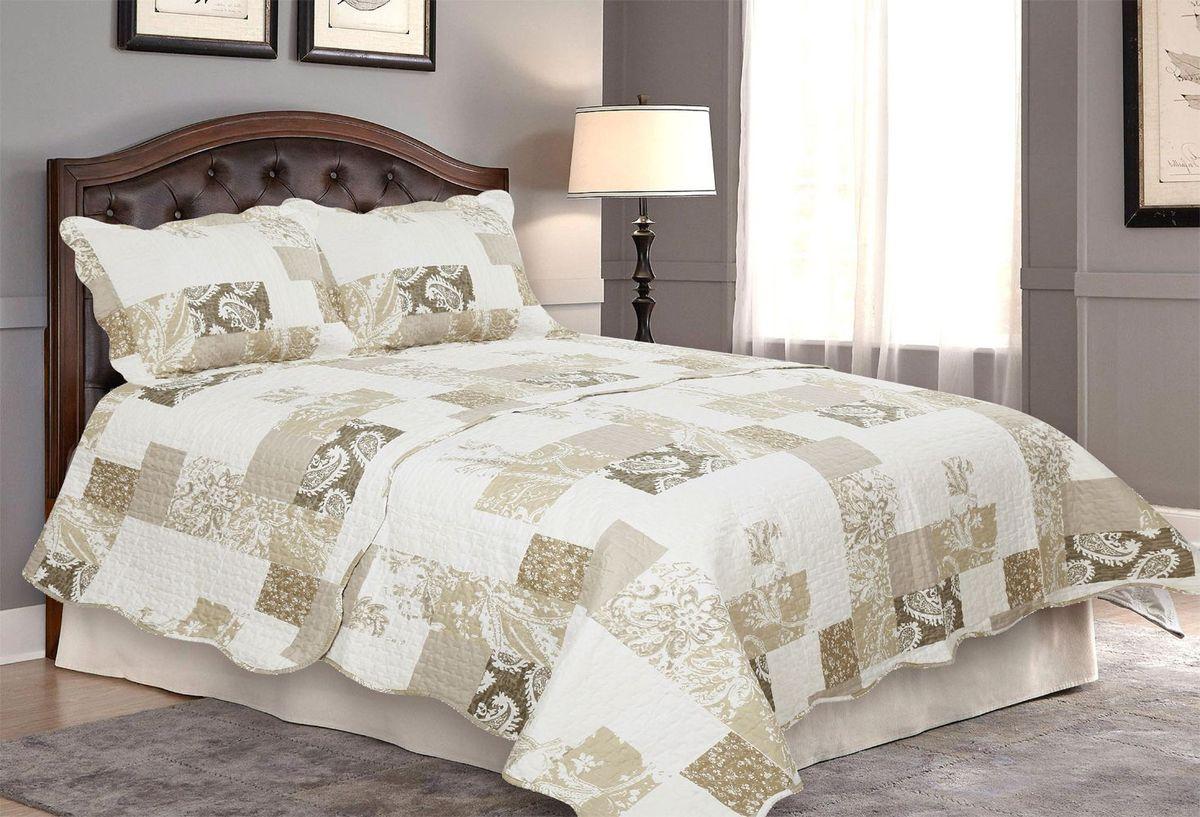 Комплект для спальни Amore Mio: покрывало 230 х 250 см, 2 наволочки. 8566885668Покрывала Pachwork Amore Mio - стеганые покрывала с печатным рисунком. Стильные, легкие, неприхотливые в уходе.