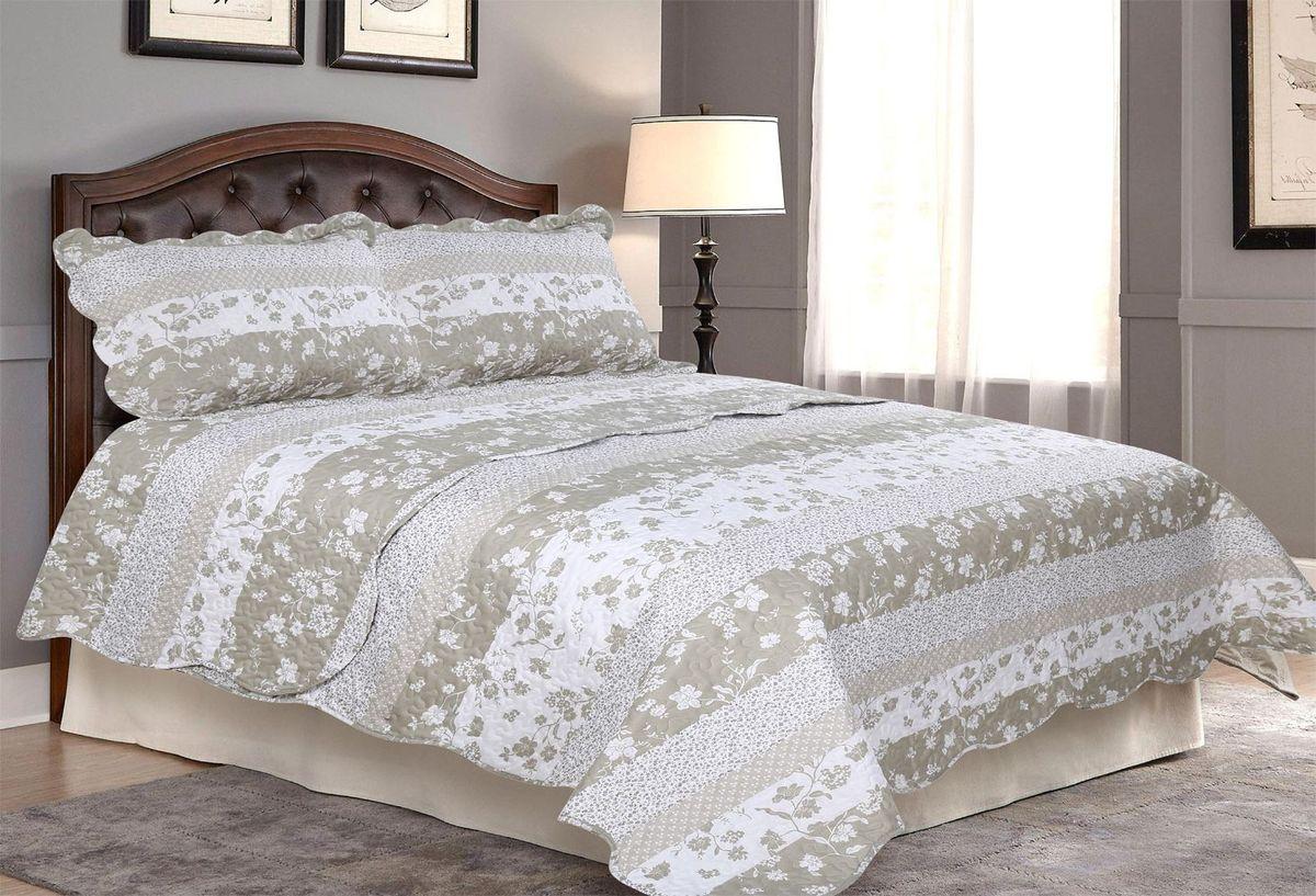 Комплект для спальни Amore Mio: покрывало 230 х 250 см, 2 наволочки. 8566985669Покрывала Pachwork Amore Mio - стеганые покрывала с печатным рисунком. Стильные, легкие, неприхотливые в уходе.