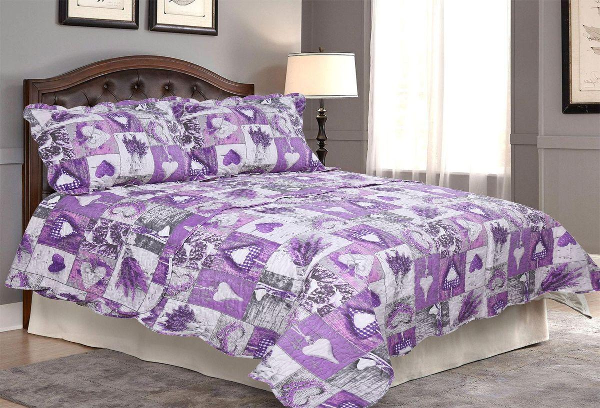Комплект для спальни Amore Mio: покрывало 230 х 250 см, 2 наволочки. 8567285672Покрывала Pachwork Amore Mio - стеганые покрывала с печатным рисунком. Стильные, легкие, неприхотливые в уходе.