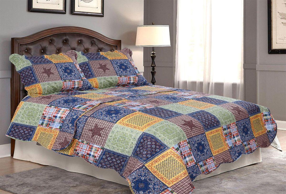 Комплект для спальни Amore Mio: покрывало 230 х 250 см, 2 наволочки. 8567585675Покрывала Pachwork Amore Mio - стеганые покрывала с печатным рисунком. Стильные, легкие, неприхотливые в уходе.