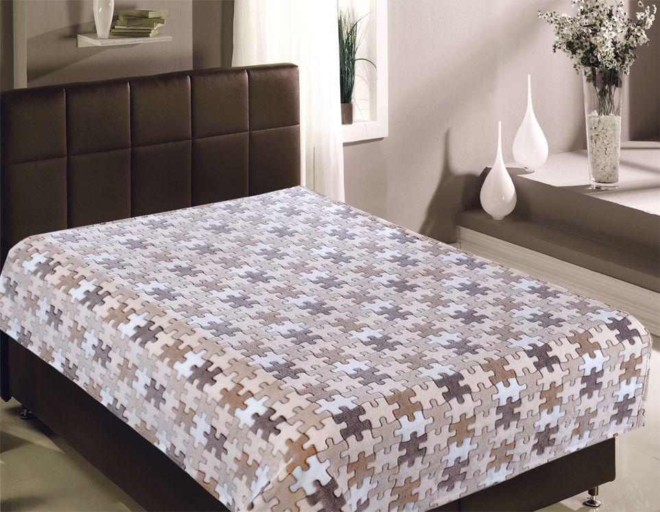 Плед Buenas Noches Bamboo. Пазлы, 150 х 200 см. 8674386743Пледы Buenas noches из колекции Bamboo - классические дизайны в бежево-коричневой цветовой гамме, объесный рисунок и исключительная мягкость. Ткань выполнена из 100% полиестера, не линяет, не деформируется. Этот плед универсален - может использоваться в качестве пледа, легкого одеяла или нарядного покрывала..