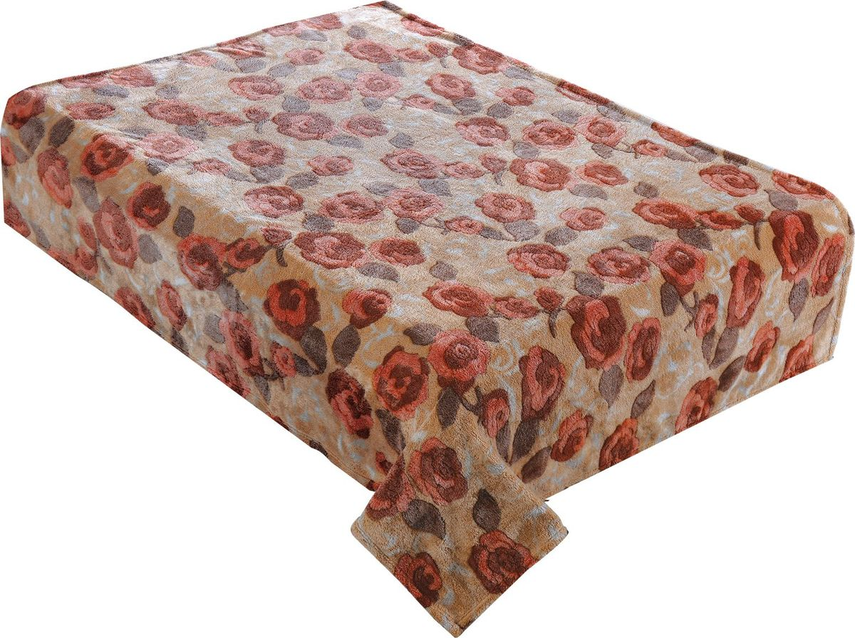 Плед Buenas Noches Bamboo. Розочки, 200 х 220 см. 8674685449Пледы Buenas noches из колекции Bamboo - классические дизайны в бежево-коричневой цветовой гамме, объесный рисунок и исключительная мягкость. Ткань выполнена из 100% полиестера, не линяет, не деформируется. Этот плед универсален - может использоваться в качестве пледа, легкого одеяла или нарядного покрывала..