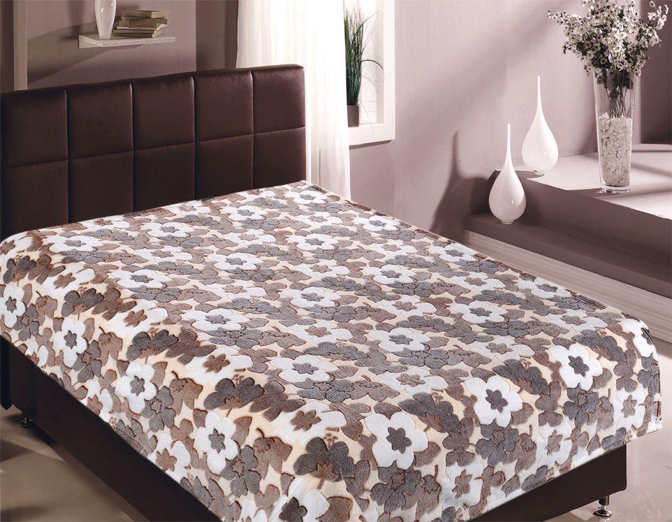 Плед Buenas Noches Bamboo. Цветы, 200 х 220 см. 8674986749Пледы Buenas noches из колекции Bamboo - классические дизайны в бежево-коричневой цветовой гамме, объесный рисунок и исключительная мягкость. Ткань выполнена из 100% полиестера, не линяет, не деформируется. Этот плед универсален - может использоваться в качестве пледа, легкого одеяла или нарядного покрывала..