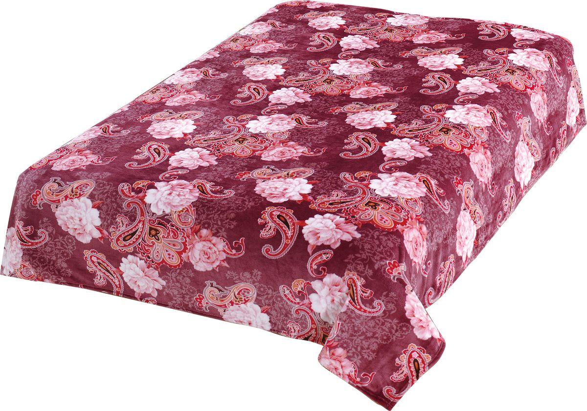 Плед TexRepublic Absolute Flanel. Розы с огурцами, цвет: бордовый, 180 х 220 см. 8810588105Пледы TexRepublic фланель - яркие, легкие и необыкновенно мягкие. Ткань выполнена из 100% полиестра по новейшей технологии. Процесс расщепления волокна и дополнительные расчесывания делают эти пледы особенно воздушными.