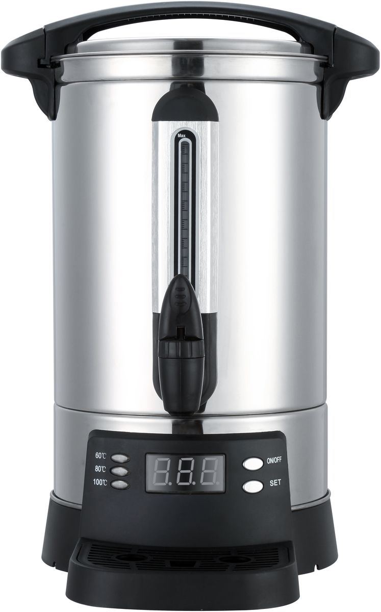 Gemlux GL-WB-20DIS электрокипятильникGL-WB-20DISЭлектрокипятильник Gemlux GL-WB-20DIS идеально подходит для кипячения воды, хранения и розлива горячей воды при приготовлении горячих напитков (растворимого кофе, чая, горячего шоколада, бульона), а также для приготовления глинтвейна.Кипятильник работает от сети с напряжением 220 вольт, что позволяет его использовать почти везде, где есть бытовая розетка с заземлением.Терморегулятор с диапазоном регулировки температуры от 30°C до 110°C позволяет поддерживать постоянную заданную температуру воды.Корпус, выполненный из высококачественной нержавеющей стали, обеспечивает жесткость конструкции и долгий срок службы.Нагревательный элемент в этой модели закрыт, что позволяет уберечь его от накипи.