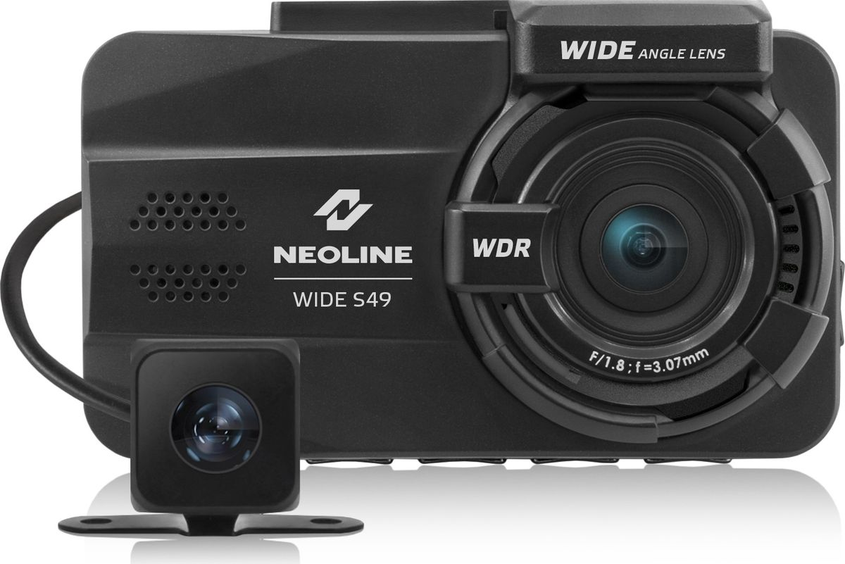 Neoline Wide S49 Dual, Black видеорегистратор478883Видеорегистратор Neoline Wide S49 DUAL черный 2Mpix 1080x1920 1080p 155гр.