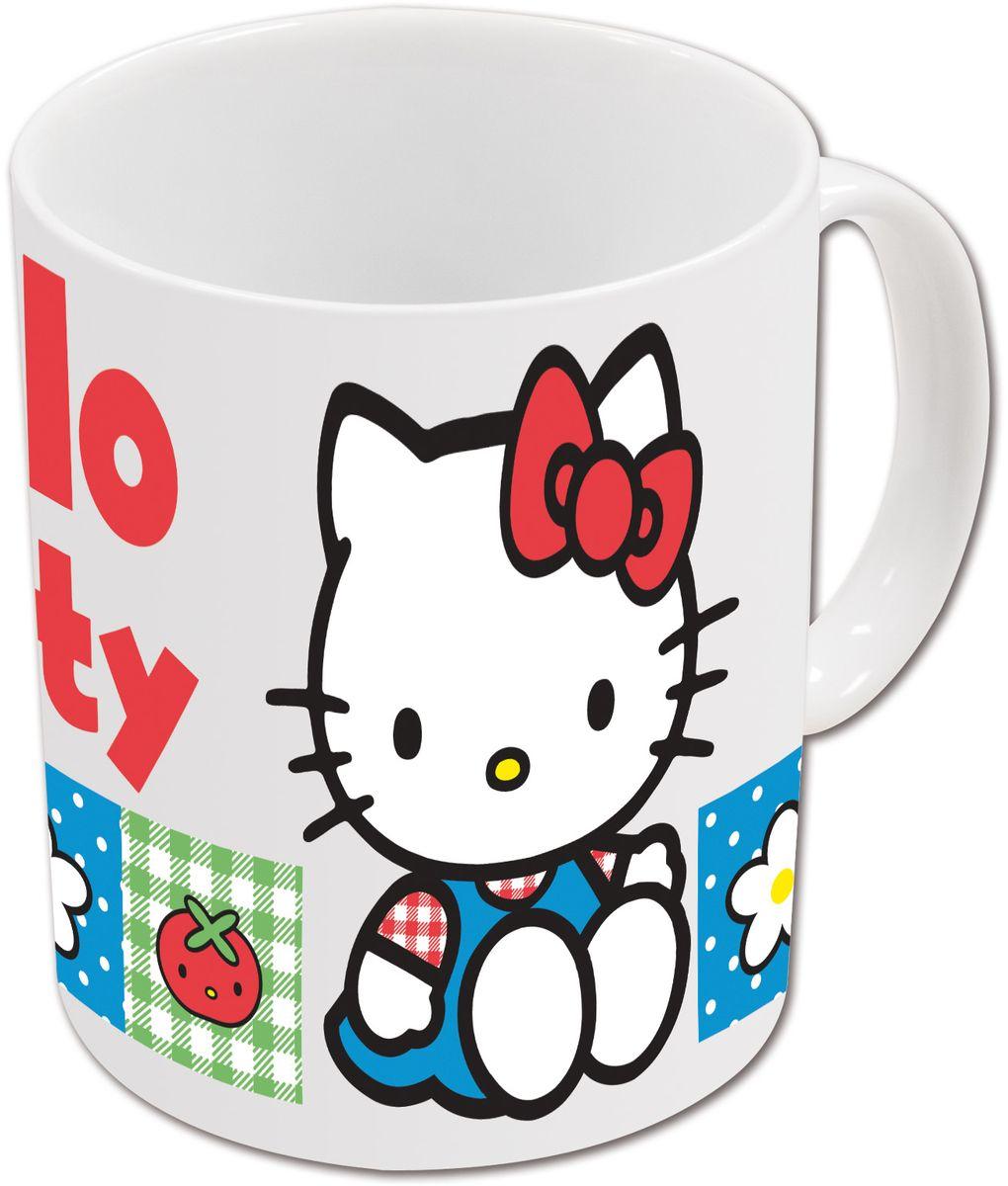 Stor Кружка детская Hello Kitty 325 мл в подарочной упаковке71376Оригинальная керамическая посуда с изображением любимых героев - прекрасный подарок для детей и взрослых. Можно использовать в СВЧ-печи и посудомоечной машине. Размер: 9 х 10,5 см. Вес: 0,37 кг.