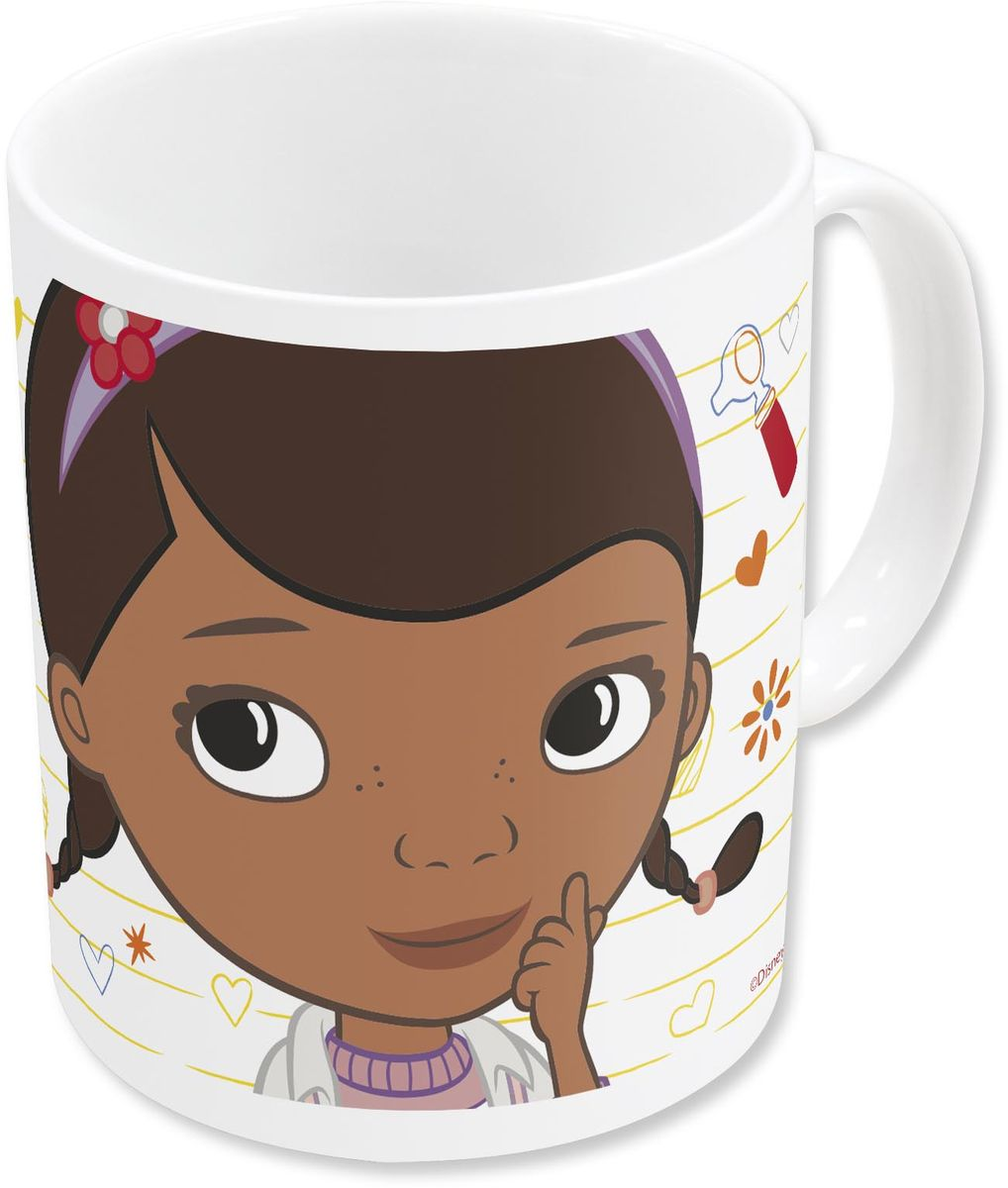 Stor Кружка детская Доктор Плюшева 325 мл в подарочной упаковке78605Оригинальная керамическая посуда с изображением любимых героев - прекрасный подарок для детей и взрослых. Можно использовать в СВЧ-печи и посудомоечной машине.Размер: 8,7 х 10 см.