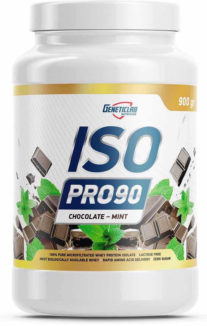 Изолят Geneticlab Nutrition  Iso Pro 90 , шоколад и мята, 900 г - Протеины