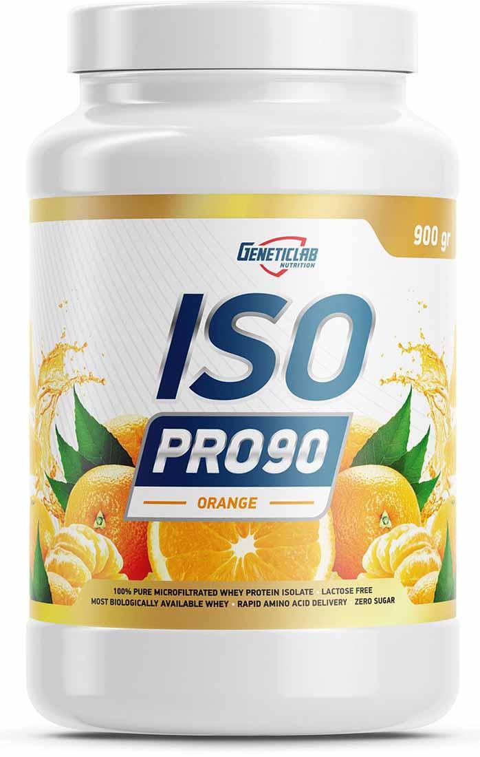 Изолят Geneticlab Nutrition  Iso Pro 90 , апельсин, 900 г - Протеины